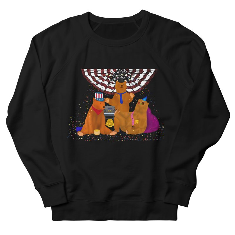 Bear Party Men's French Terry Sweatshirt by nicolekieferdesign's Artist Shop