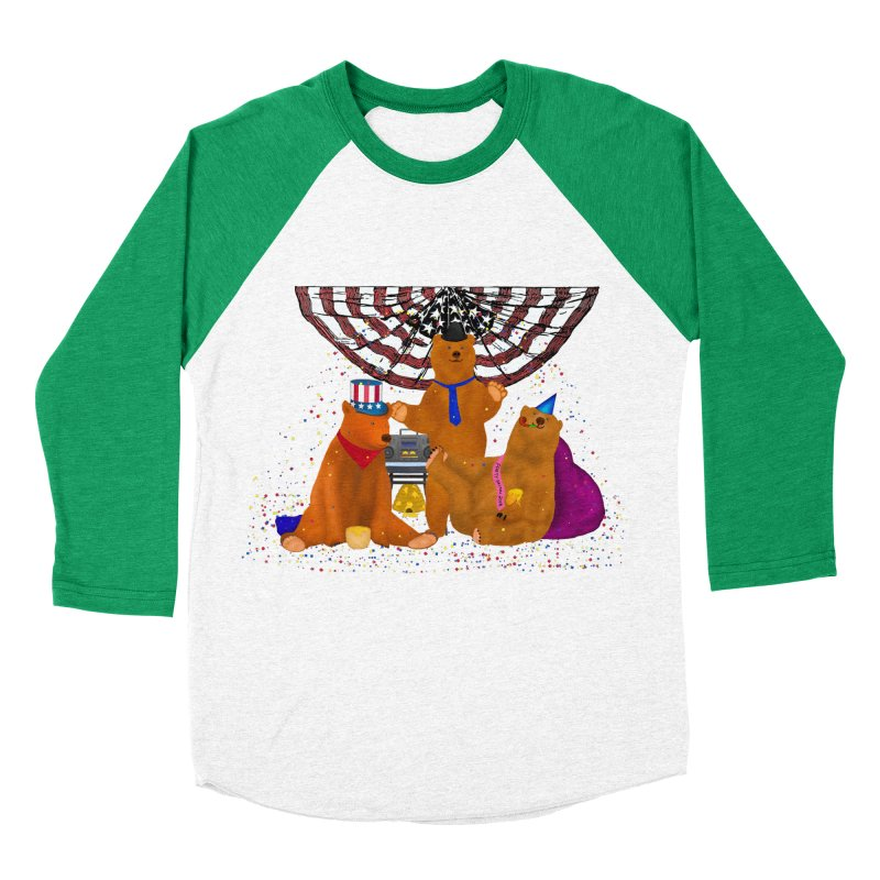 Bear Party Women's Baseball Triblend Longsleeve T-Shirt by nicolekieferdesign's Artist Shop