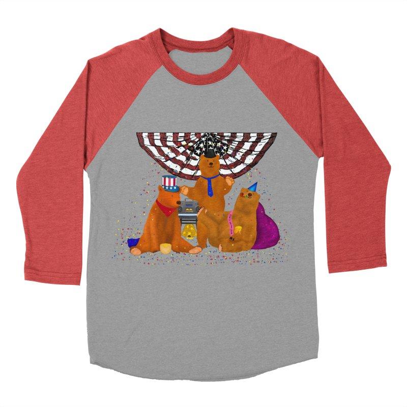 Bear Party Men's Baseball Triblend Longsleeve T-Shirt by nicolekieferdesign's Artist Shop