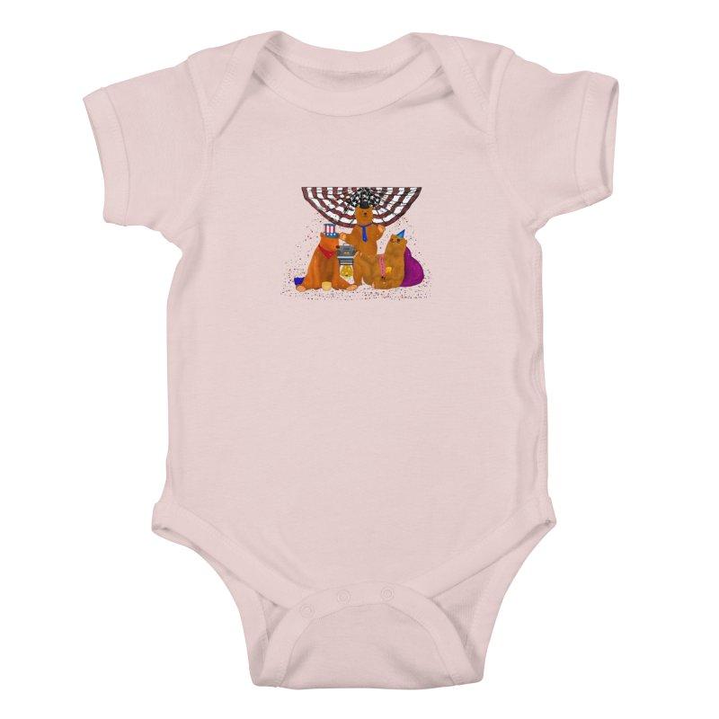 Bear Party Kids Baby Bodysuit by nicolekieferdesign's Artist Shop