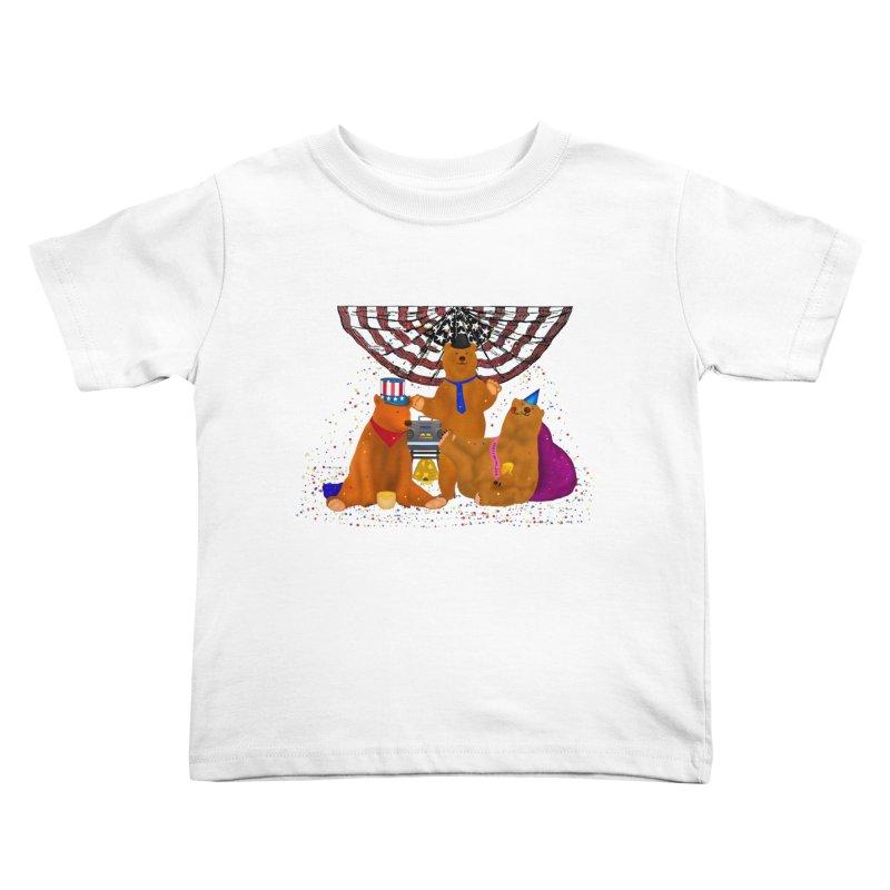 Bear Party Kids Toddler T-Shirt by nicolekieferdesign's Artist Shop