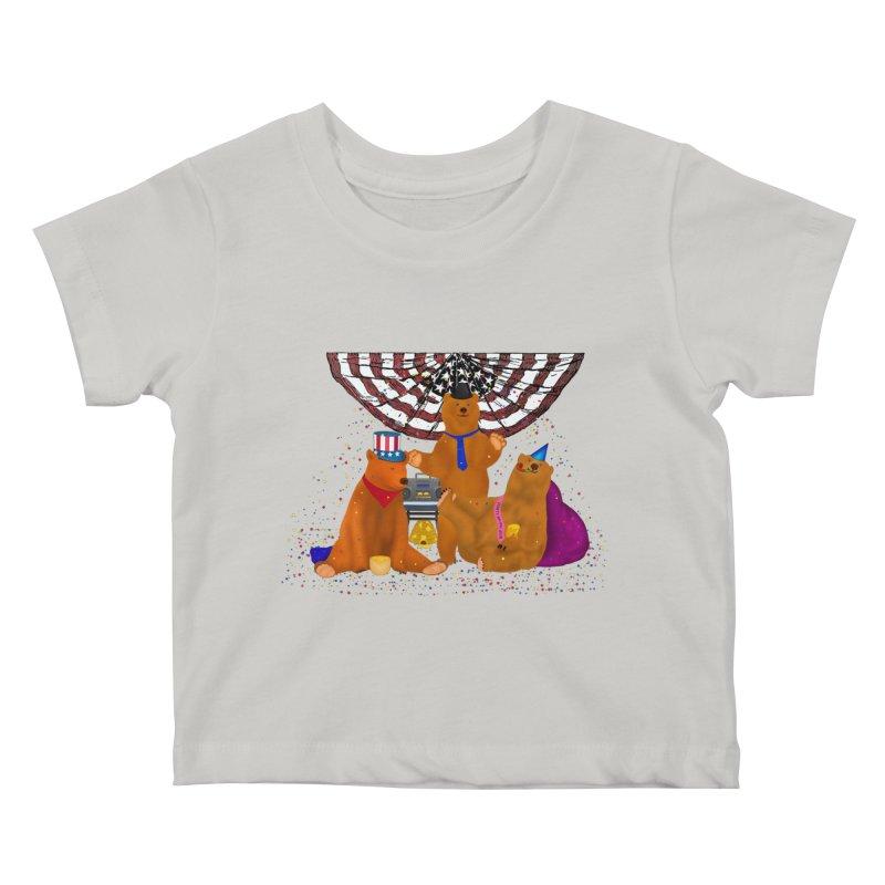 Bear Party Kids Baby T-Shirt by nicolekieferdesign's Artist Shop