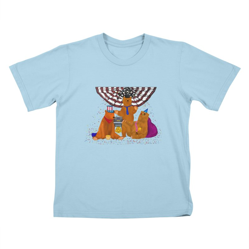 Bear Party Kids T-Shirt by nicolekieferdesign's Artist Shop