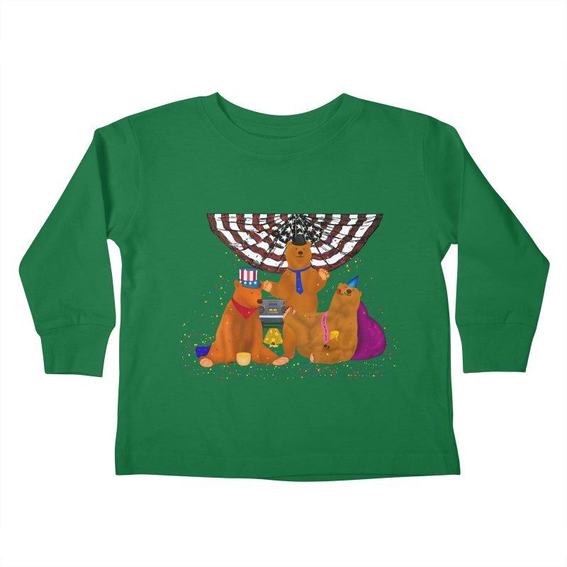 Bear Party Kids Toddler Longsleeve T-Shirt by nicolekieferdesign's Artist Shop