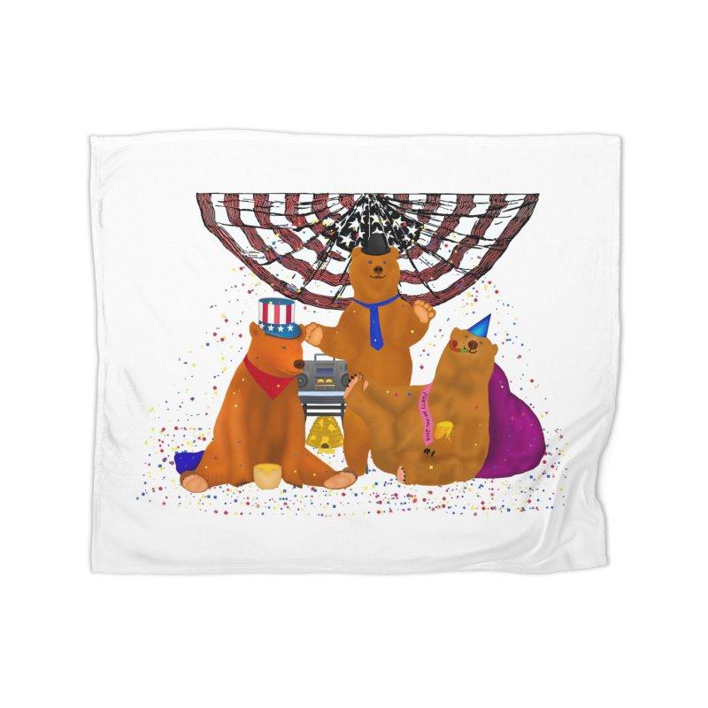 Bear Party Home Blanket by nicolekieferdesign's Artist Shop