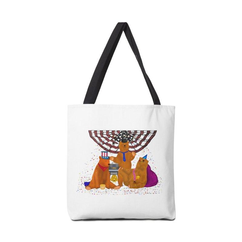 Bear Party Accessories Tote Bag Bag by nicolekieferdesign's Artist Shop
