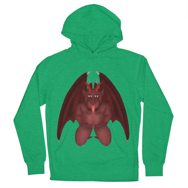 Red Gargoyle Men's French Terry Pullover Hoody by nicolekieferdesign's Artist Shop