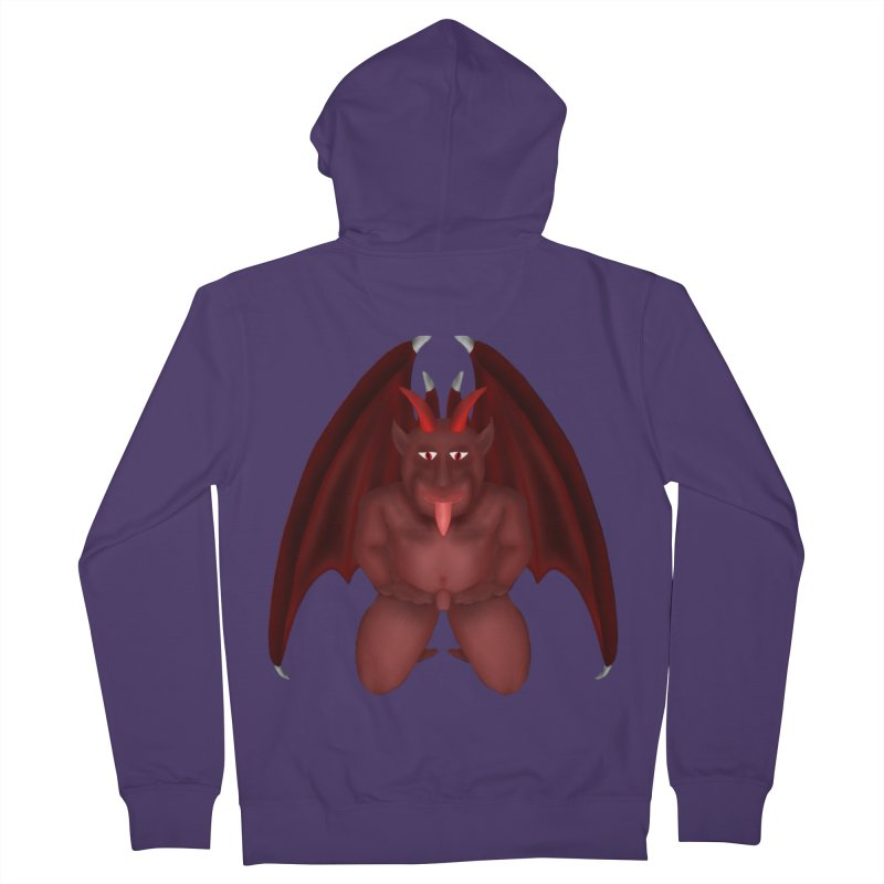 Red Gargoyle Women's French Terry Zip-Up Hoody by nicolekieferdesign's Artist Shop