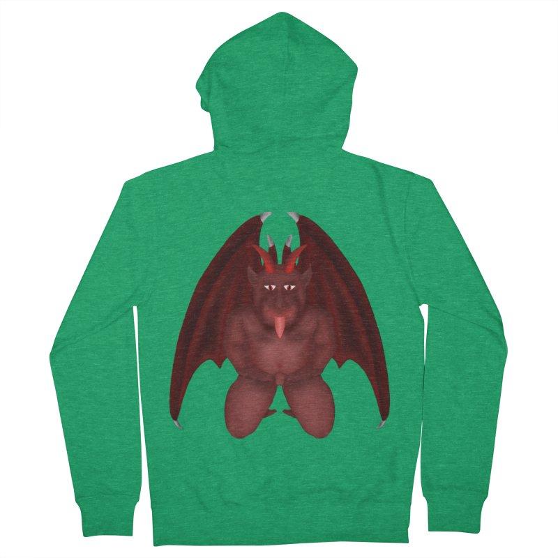 Red Gargoyle Men's French Terry Zip-Up Hoody by nicolekieferdesign's Artist Shop