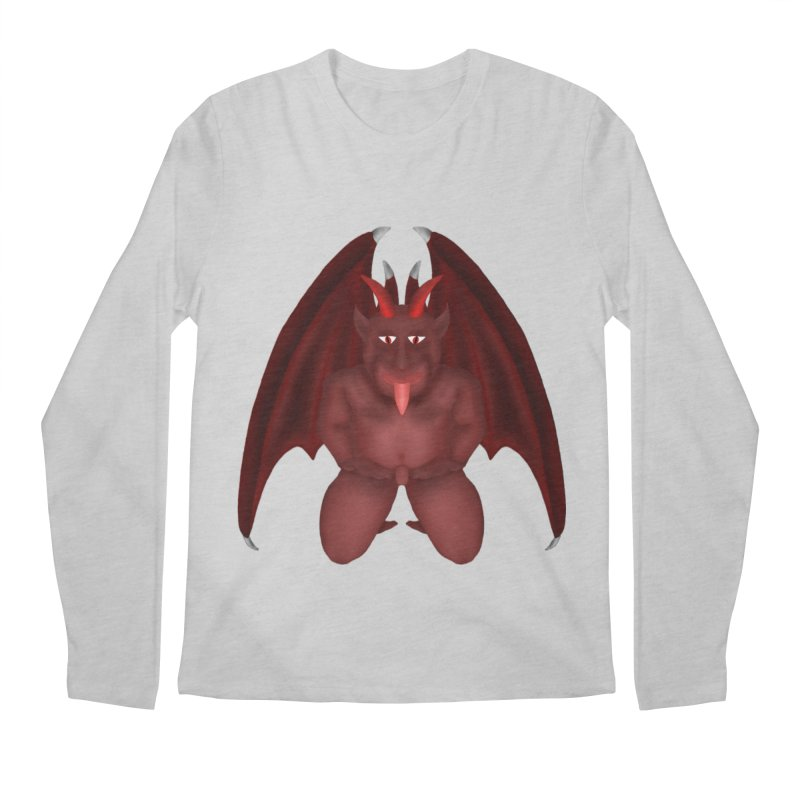 Red Gargoyle Men's Regular Longsleeve T-Shirt by nicolekieferdesign's Artist Shop