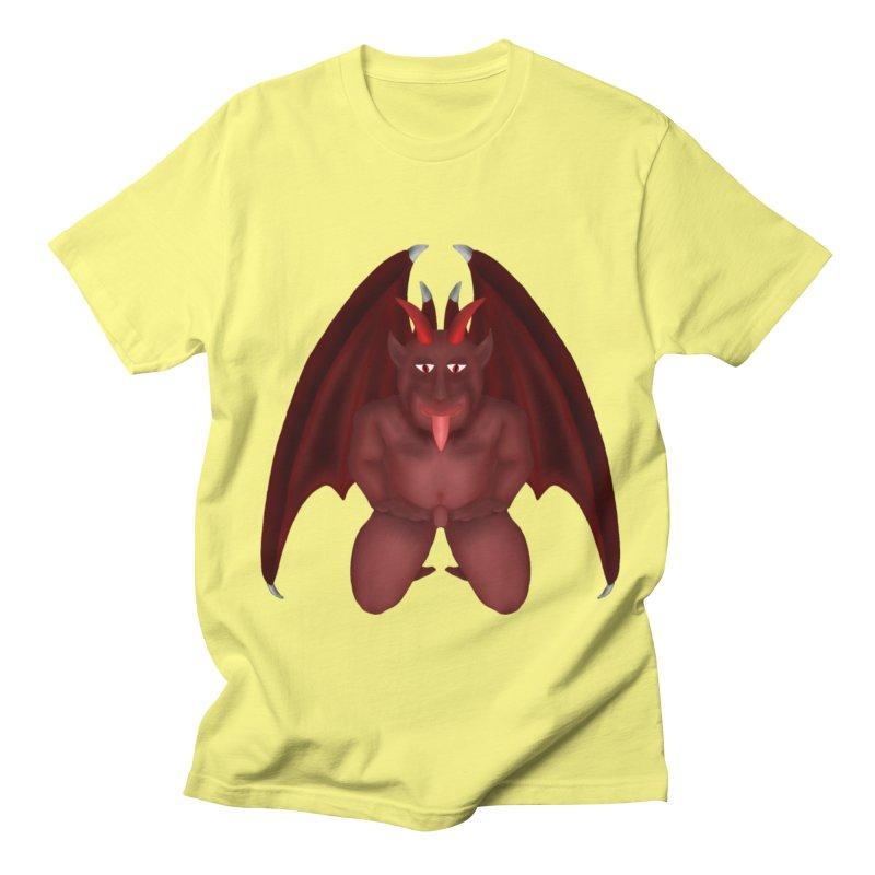 Red Gargoyle Men's Regular T-Shirt by nicolekieferdesign's Artist Shop