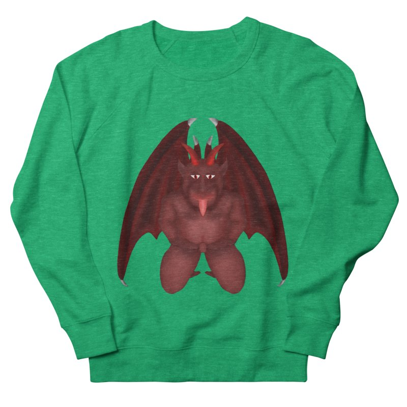 Red Gargoyle Women's Sweatshirt by nicolekieferdesign's Artist Shop