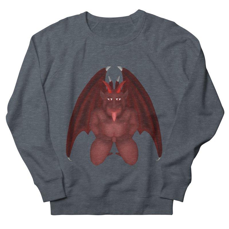 Red Gargoyle Men's French Terry Sweatshirt by nicolekieferdesign's Artist Shop
