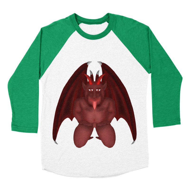 Red Gargoyle Women's Baseball Triblend Longsleeve T-Shirt by nicolekieferdesign's Artist Shop