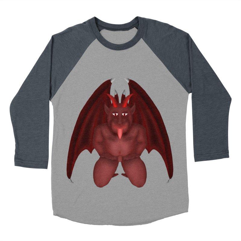 Red Gargoyle Women's Baseball Triblend T-Shirt by nicolekieferdesign's Artist Shop