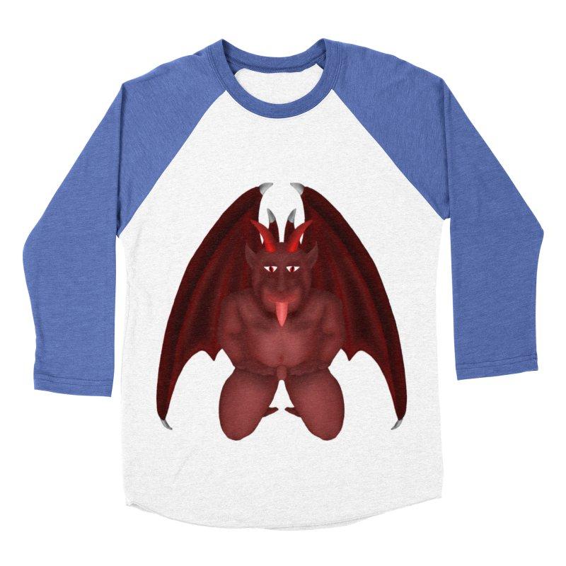 Red Gargoyle Men's Baseball Triblend T-Shirt by nicolekieferdesign's Artist Shop