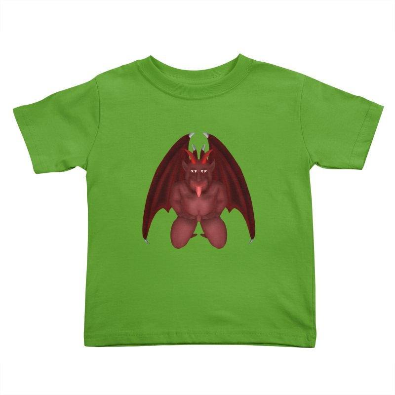 Red Gargoyle Kids Toddler T-Shirt by nicolekieferdesign's Artist Shop