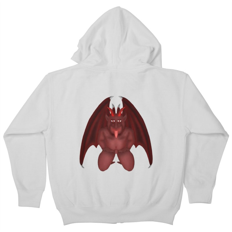Red Gargoyle Kids Zip-Up Hoody by nicolekieferdesign's Artist Shop