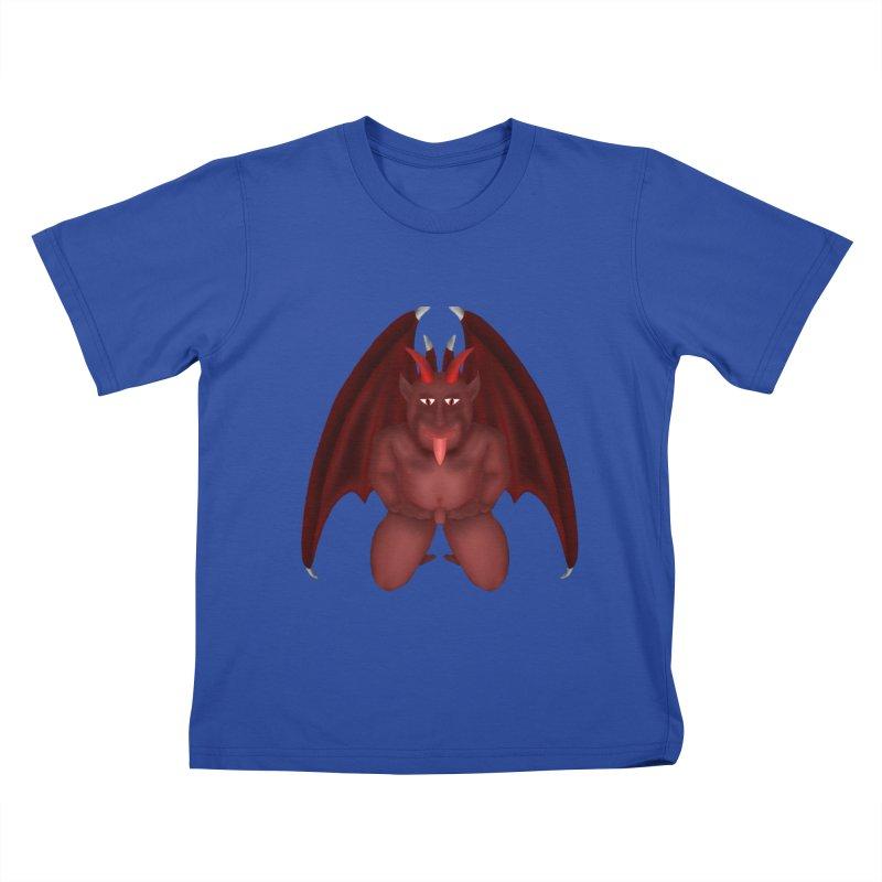 Red Gargoyle Kids T-Shirt by nicolekieferdesign's Artist Shop