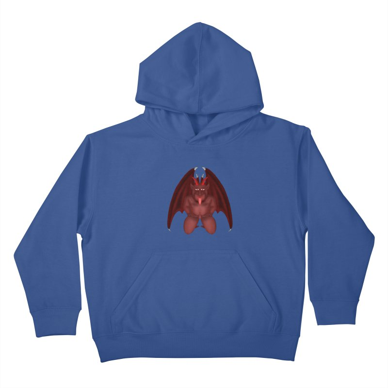 Red Gargoyle Kids Pullover Hoody by nicolekieferdesign's Artist Shop