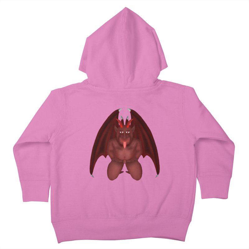 Red Gargoyle Kids Toddler Zip-Up Hoody by nicolekieferdesign's Artist Shop