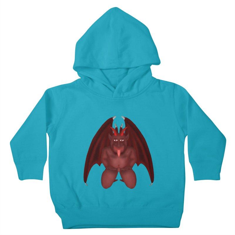 Red Gargoyle Kids Toddler Pullover Hoody by nicolekieferdesign's Artist Shop