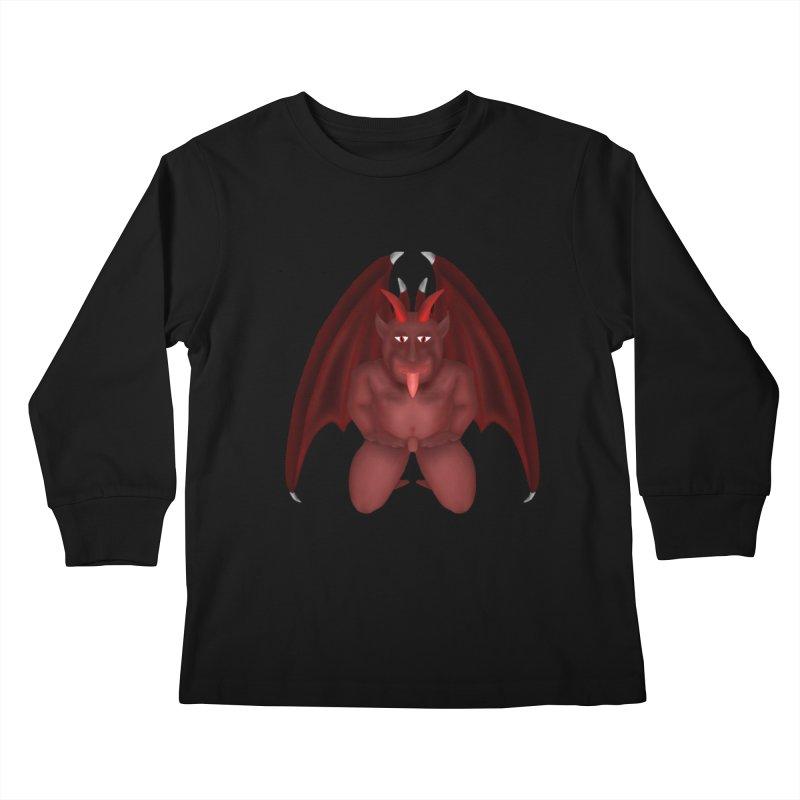 Red Gargoyle Kids Longsleeve T-Shirt by nicolekieferdesign's Artist Shop