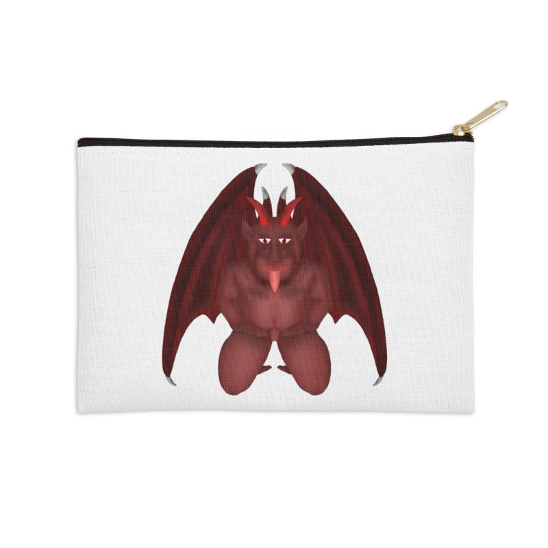Red Gargoyle Accessories Zip Pouch by nicolekieferdesign's Artist Shop