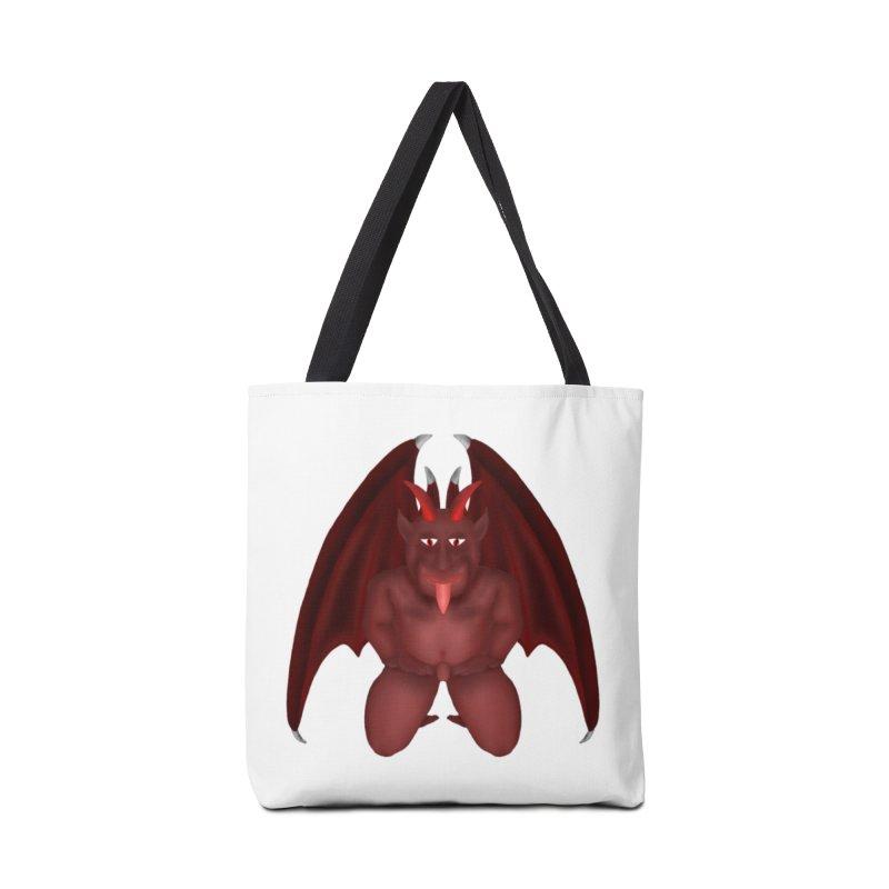 Red Gargoyle Accessories Bag by nicolekieferdesign's Artist Shop