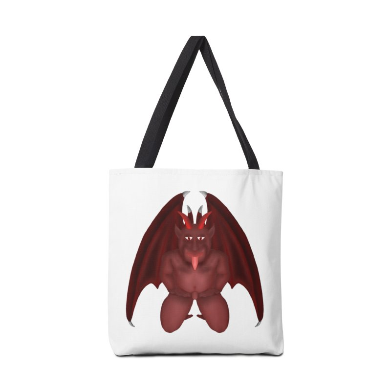 Red Gargoyle Accessories Tote Bag Bag by nicolekieferdesign's Artist Shop