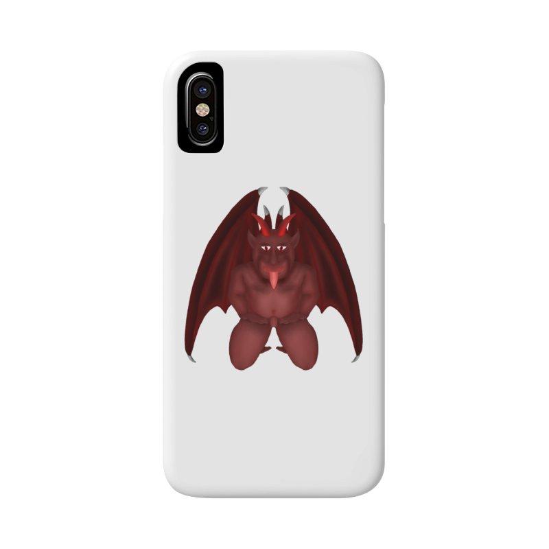 Red Gargoyle Accessories Phone Case by nicolekieferdesign's Artist Shop