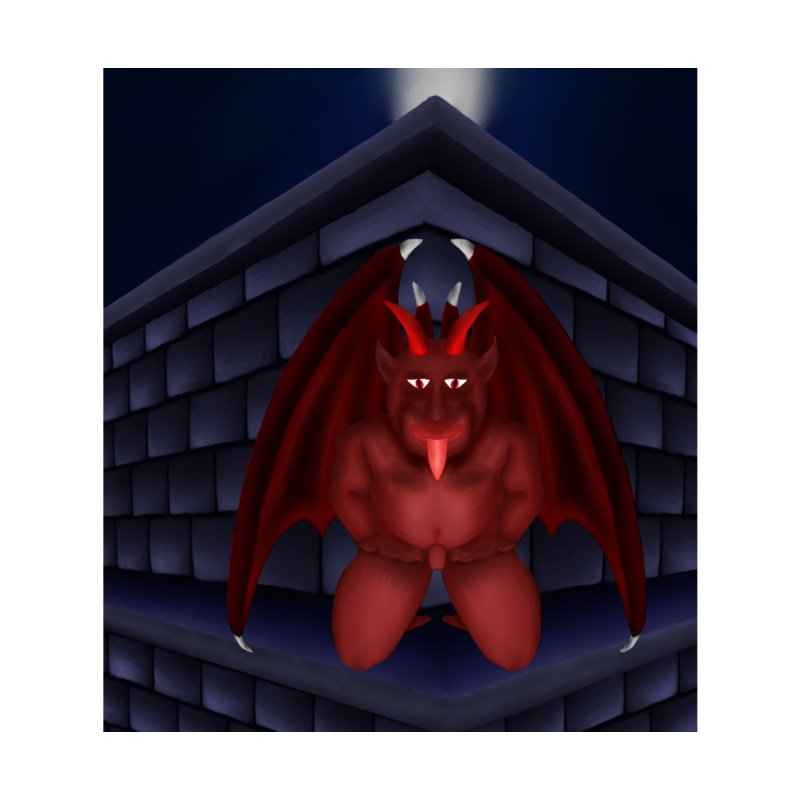 Red Gargoyle on Brick building by nicolekieferdesign's Artist Shop