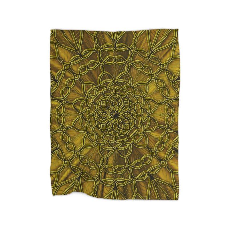 Golden Lace Home Blanket by nicolekieferdesign's Artist Shop