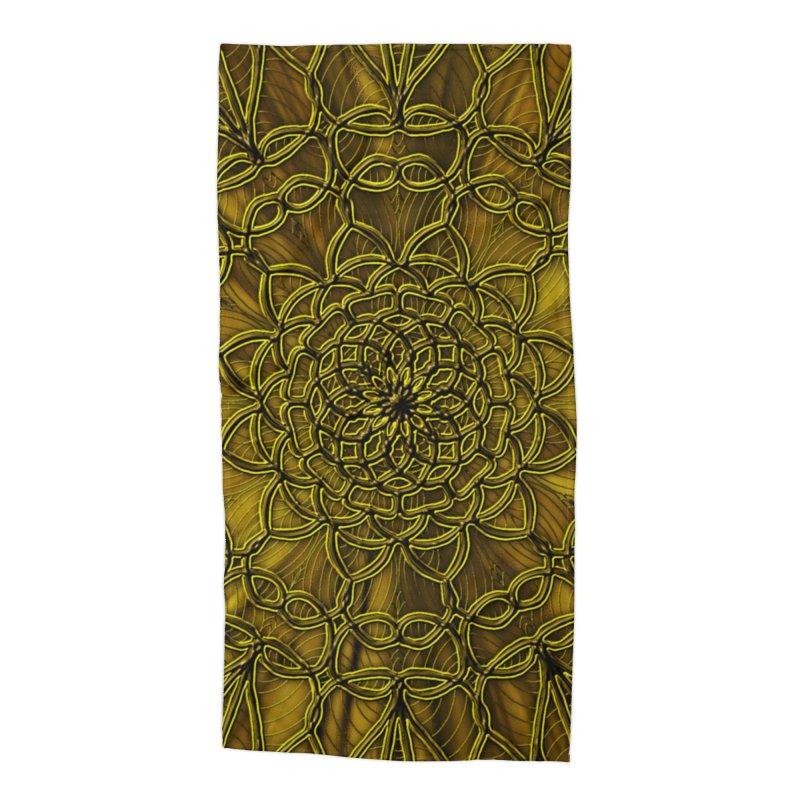 Golden Lace Accessories Beach Towel by nicolekieferdesign's Artist Shop