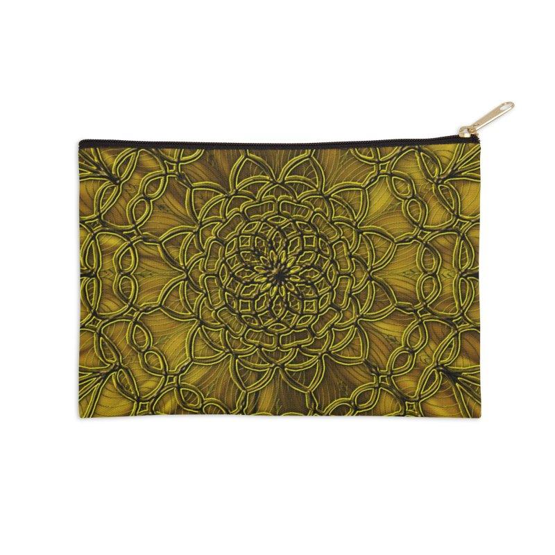 Golden Lace Accessories Zip Pouch by nicolekieferdesign's Artist Shop