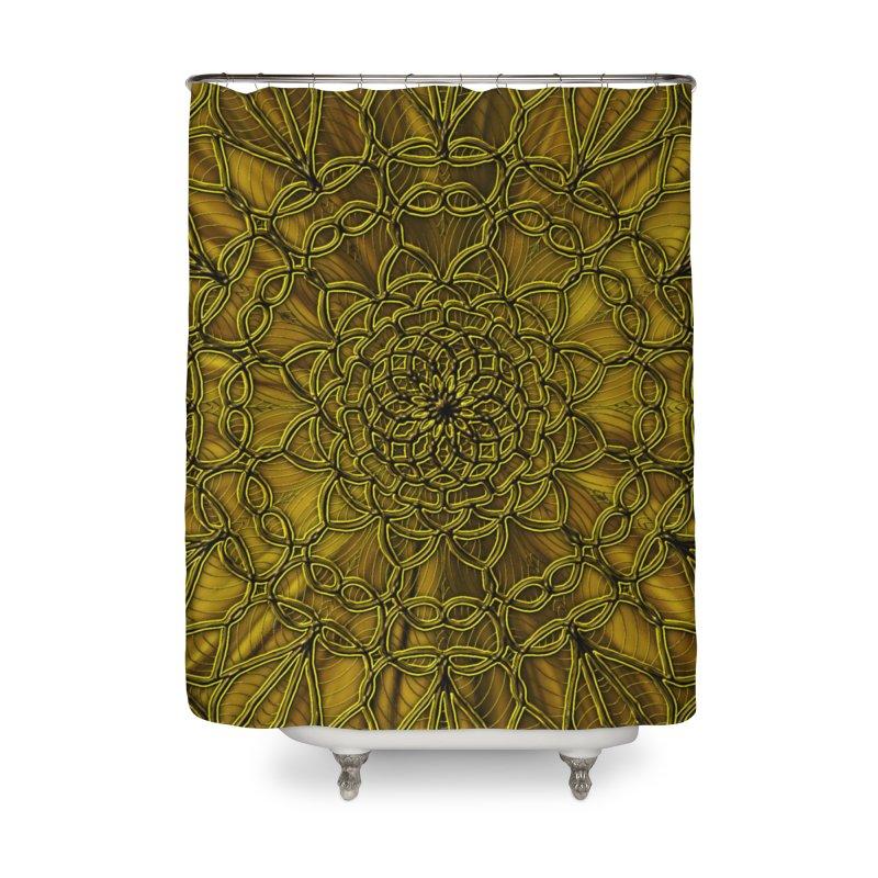 Golden Lace Home Shower Curtain by nicolekieferdesign's Artist Shop