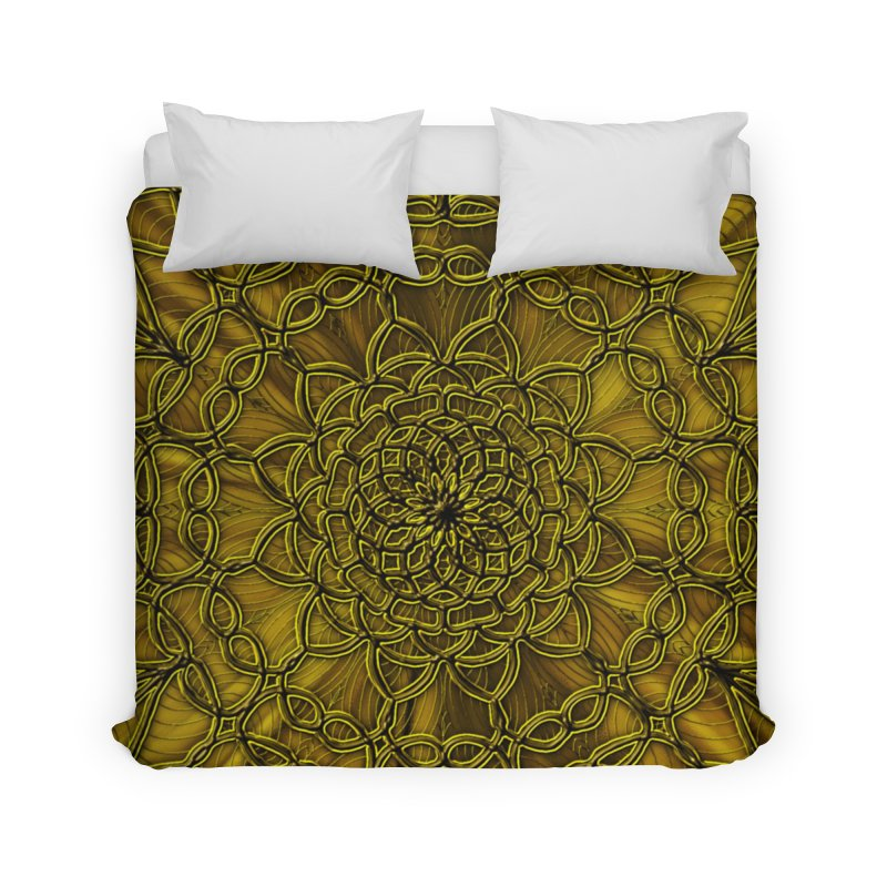 Golden Lace Home Duvet by nicolekieferdesign's Artist Shop