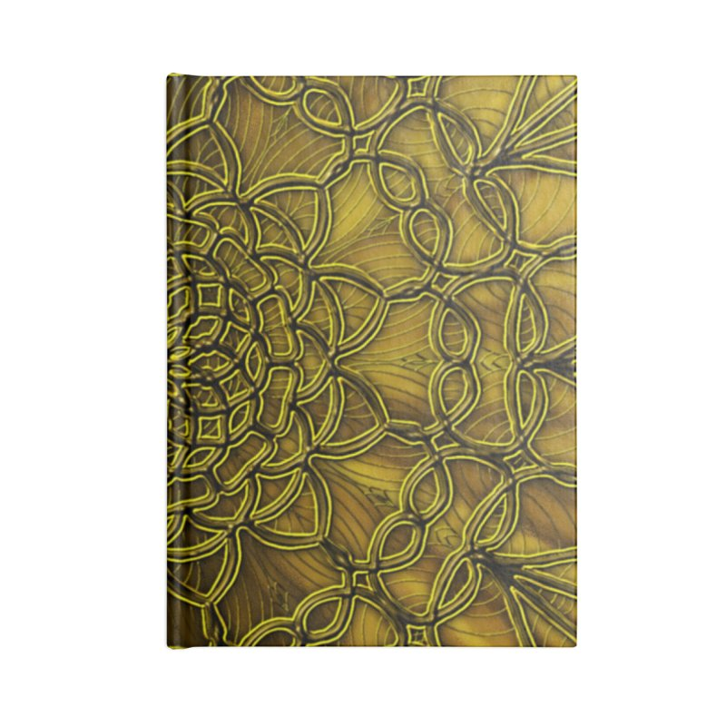 Golden Lace Accessories Blank Journal Notebook by nicolekieferdesign's Artist Shop