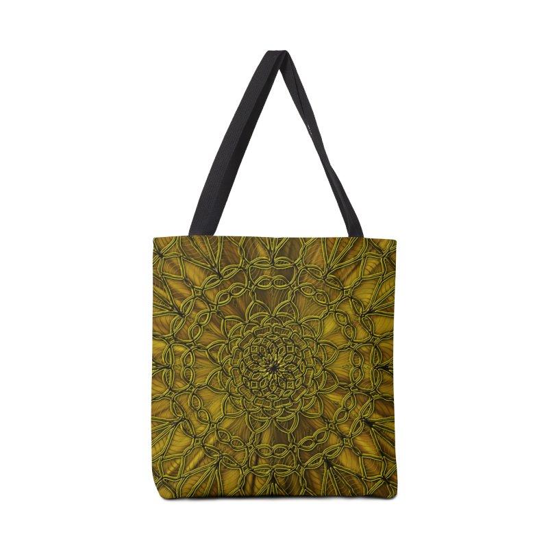 Golden Lace Accessories Bag by nicolekieferdesign's Artist Shop