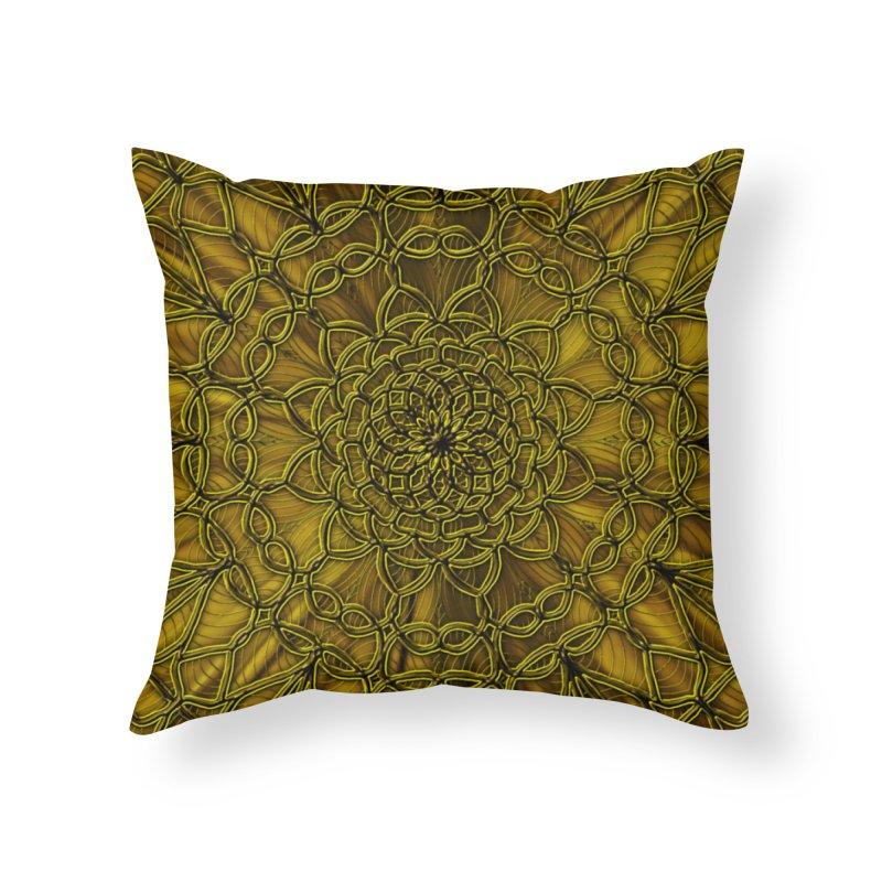Golden Lace Home Throw Pillow by nicolekieferdesign's Artist Shop