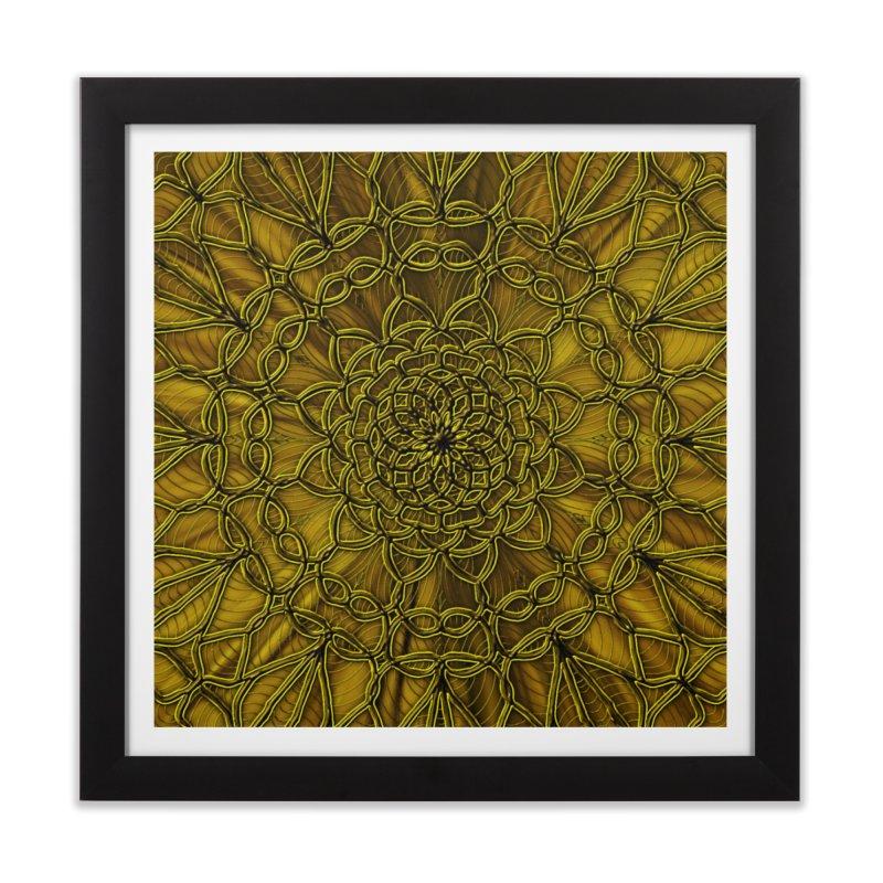 Golden Lace Home Framed Fine Art Print by nicolekieferdesign's Artist Shop
