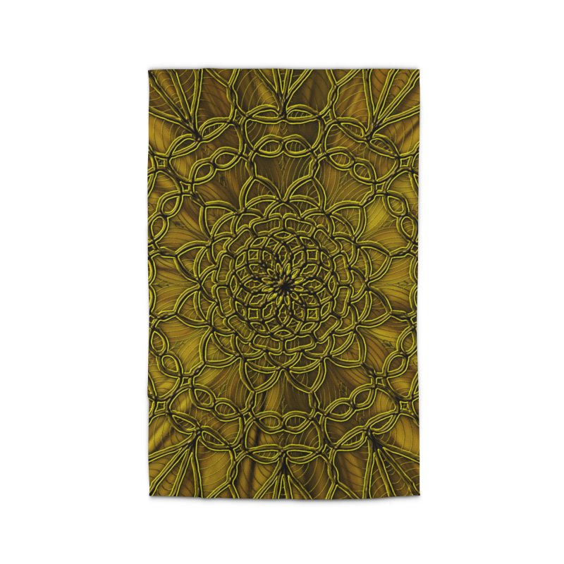 Golden Lace Home Rug by nicolekieferdesign's Artist Shop