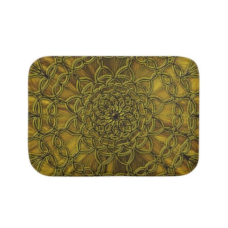 Golden Lace Home Bath Mat by nicolekieferdesign's Artist Shop