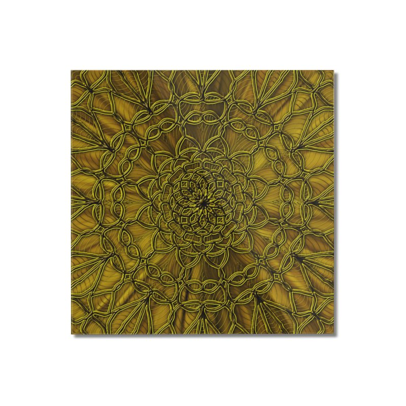 Golden Lace Home Mounted Acrylic Print by nicolekieferdesign's Artist Shop