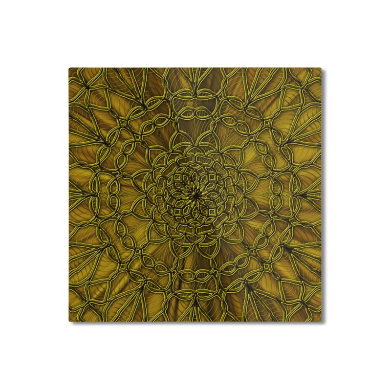 Golden Lace Home Mounted Aluminum Print by nicolekieferdesign's Artist Shop