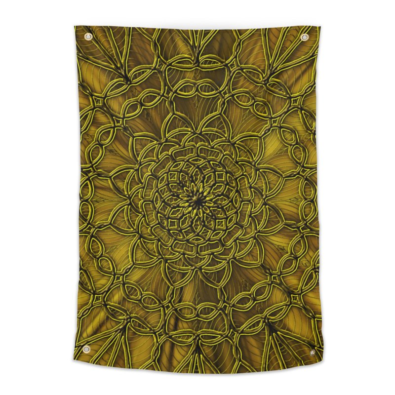 Golden Lace Home Tapestry by nicolekieferdesign's Artist Shop