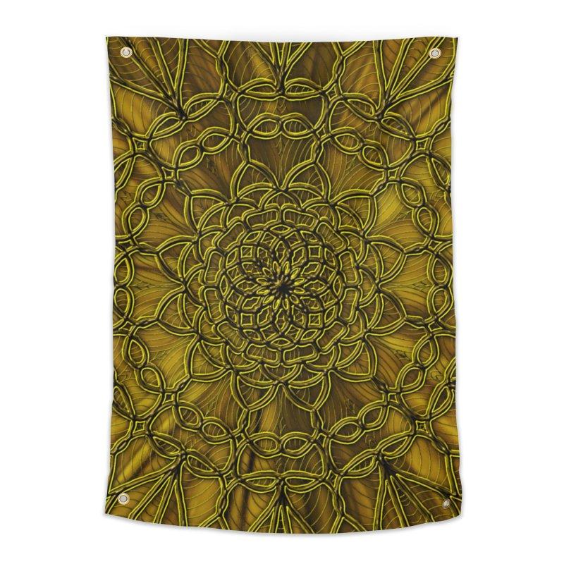 Golden Lace Home Tapestry by nicolekieferdesign's Artist Shop