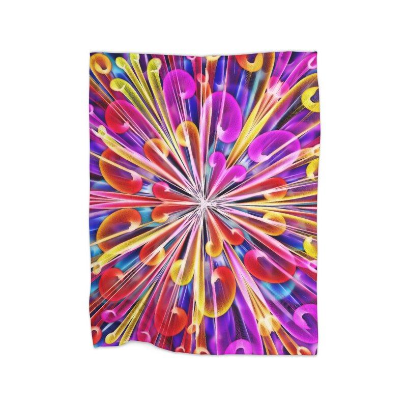 Unusual abstract flowers Home Blanket by nicolekieferdesign's Artist Shop
