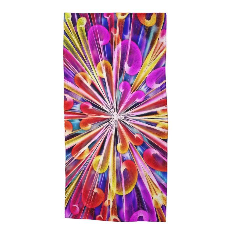 Unusual abstract flowers Accessories Beach Towel by nicolekieferdesign's Artist Shop