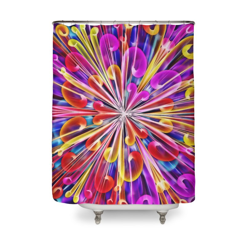 Unusual abstract flowers Home Shower Curtain by nicolekieferdesign's Artist Shop